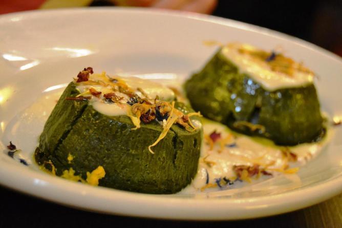 Spinach flan at Osteria Numero Uno