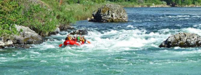 Rafting on the Spokane River