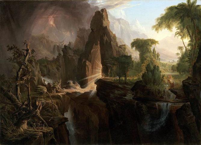 Expulsion from the Garden of Eden, Cole Thomas   © Museum of Fine Arts, Boston/WikiCommons
