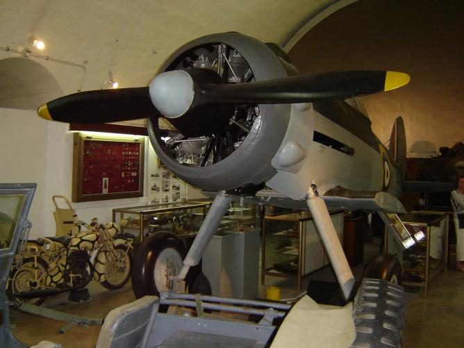 The Gloster Gladiator at the National War Museum, Malta