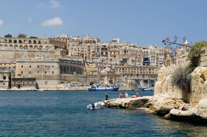 the Grand Harbour of Valletta