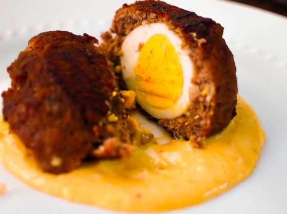 Scotch quail eggs