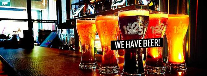 Craft beers at 1925