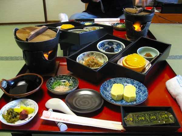 Kaiseki breakfast at Matsui