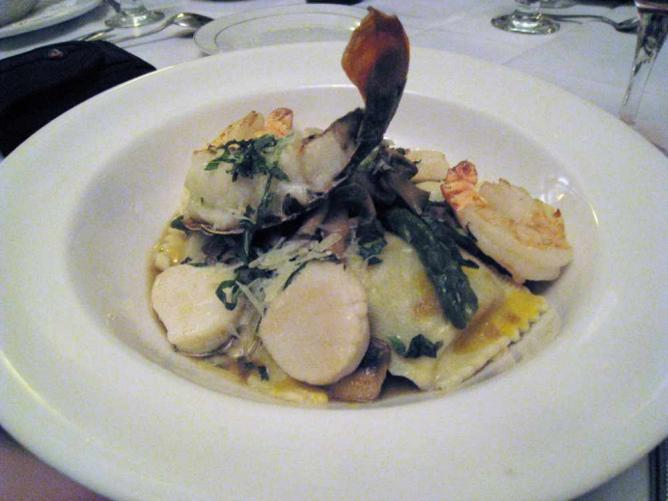 Tiger Striped Agnulotti with Lobster