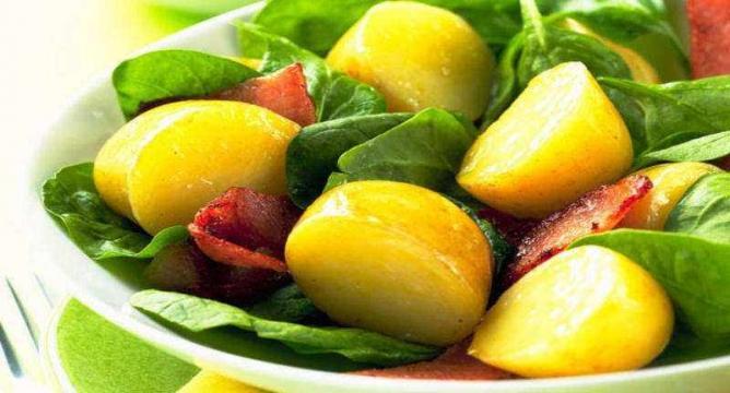 Warm Spinach-Potato Salad   © Cooking SoftwareOz/Flickr