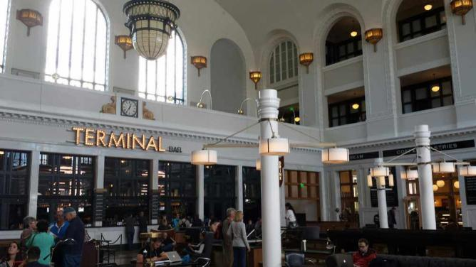 A photo of the interior of Union Station