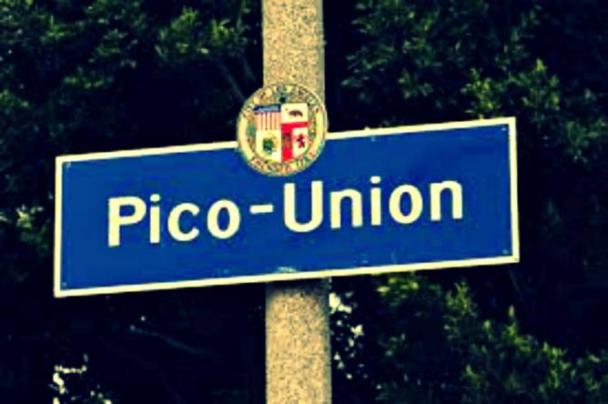 Pico Union sign, Los Angeles   © C. Marie Cradle