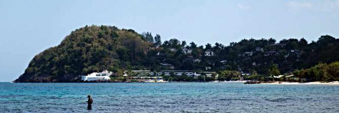 Round Hill Resort from across the bay
