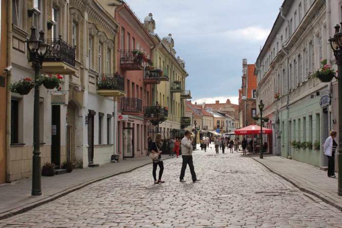 Kaunas Old Town street