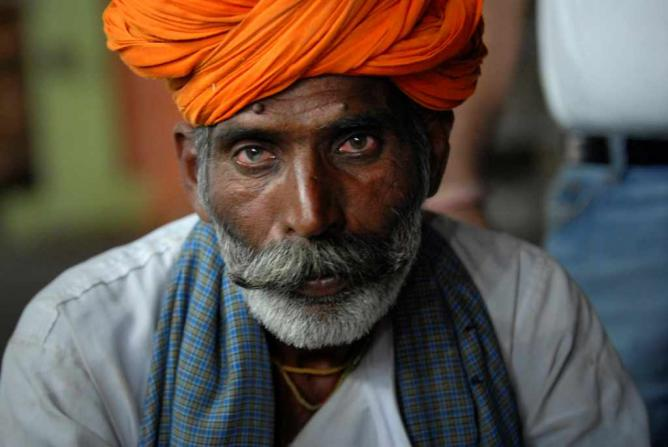 Photo of an Indian man in Pushkar, India | © Kristian Bertel