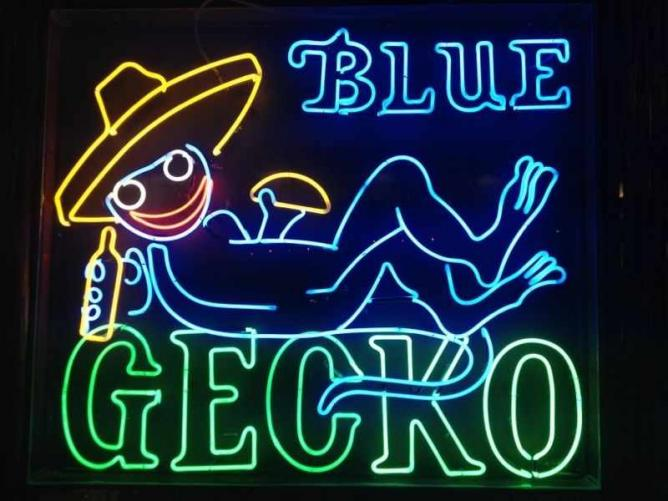 The Blue Gecko sign/Courtesy of Blue Gecko Cantina