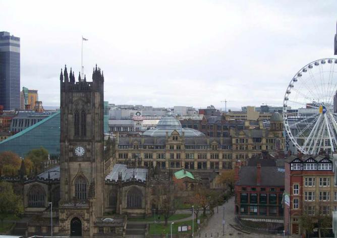 Manchester skyline ©Abfab27/WikiCommons