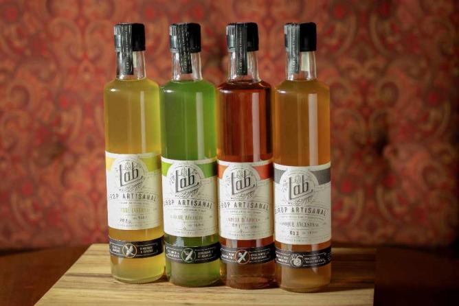 Four syrups   Courtesy of Le Lab