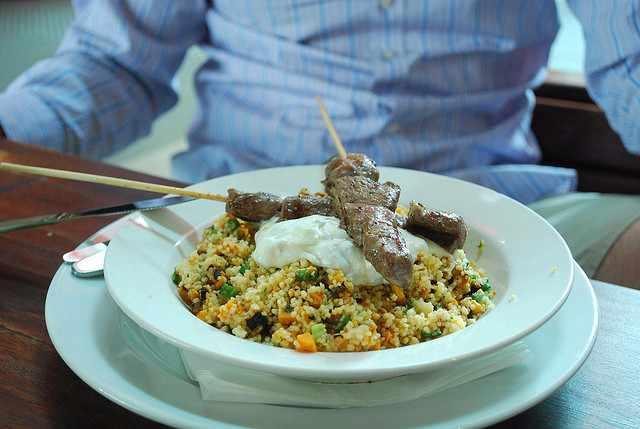 Grilled Lamb Skewers, Pumpkin Cous Cous, Tzatziki - Grill'd AUD11.90|©Alpha/Flickr