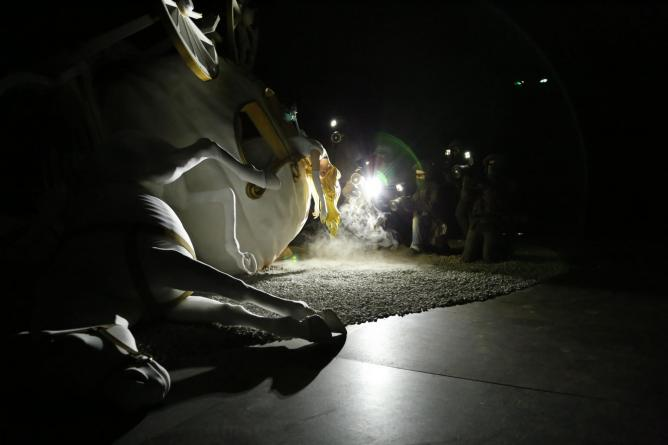 Banksy's Cinderella Sculpture
