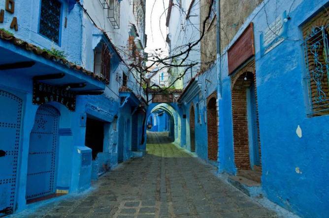 Street in Chefchaouen, Morocco   © Mark Fischer/Flickr