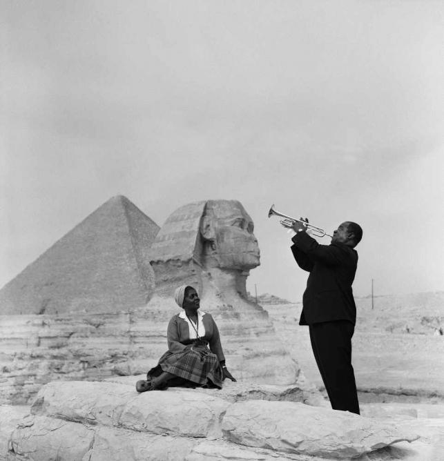 Louis Armstrong at the Great Pyramid