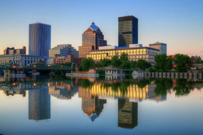 Downtown Rochester, NY | © Patrick Ashley/WikiCommons