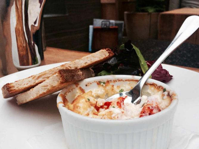 Baltaire's Lobster Baked Eggs © Baltaire
