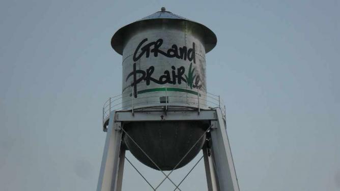 Grand Prairie water tower | © Gp user/WikiCommons