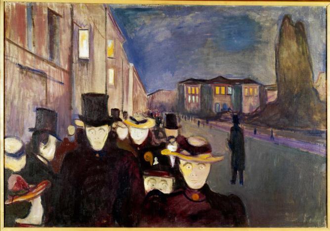 Evening on Karl Johan, 1892 | © Munch Museum