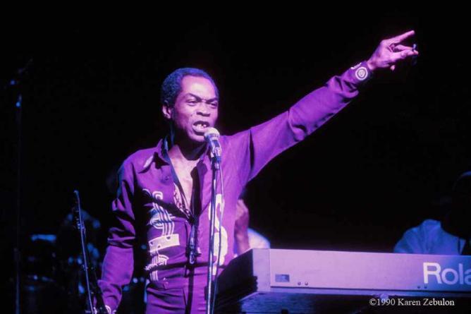 Fela Kuti, Live at The Ritz in New York City, 1990 | © Karen Zebulon/Courtesy Fela.net