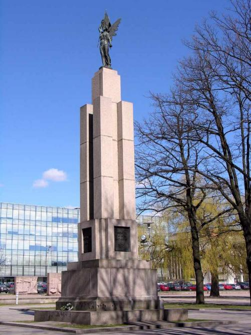 The Statue of Liberty in Kaunas by Juozas Zikaras