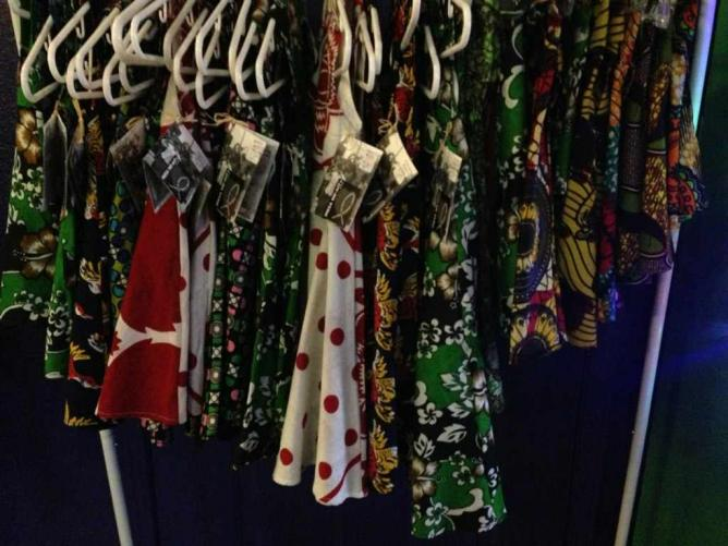 Handmade dresses at Trolley Stop Market