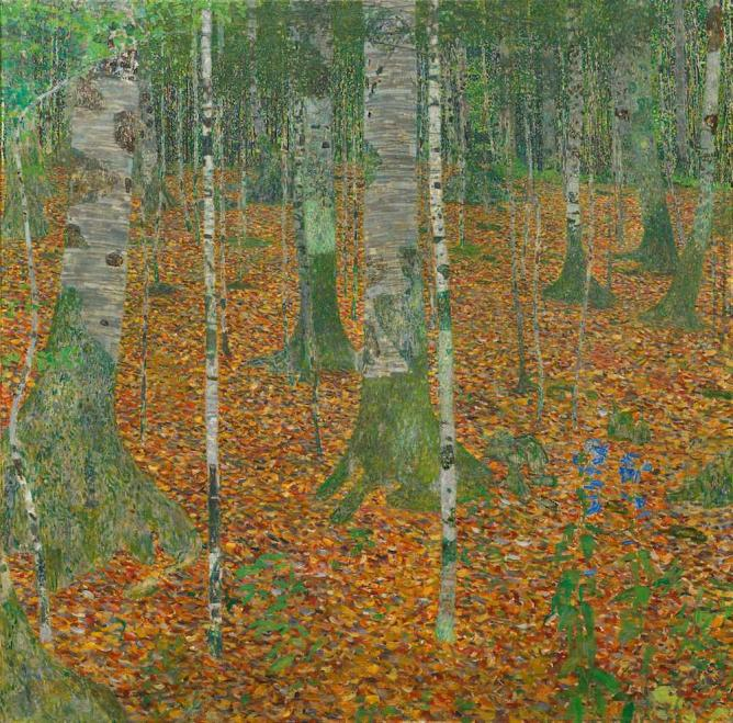 Gustav Klimt, Birch Forest, 1903, Oil on canvas, Paul G. Allen Family Collection | Courtesy of Portland Art Museum