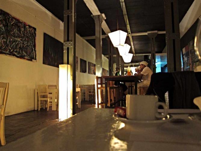 The interior of Juana M.