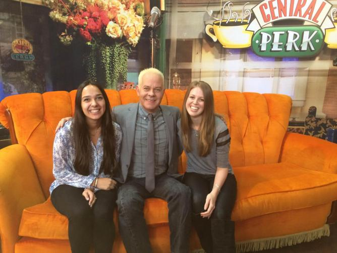 We did! Thanks to the lovely James Michael Tyler (aka Gunther) for stopping by! © Ellie Griffiths