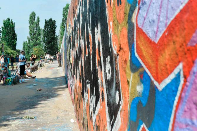 Mauerpark Graffiti   © Sarah Kabatt