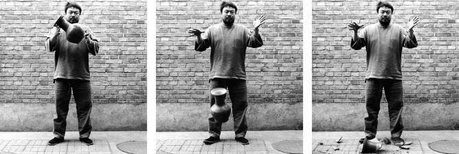 Ai Weiwei, Dropping a Han Dynasty Urn, 1995   Courtesy of Ai Weiwei