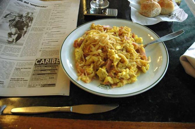 Breakfast at La Biela