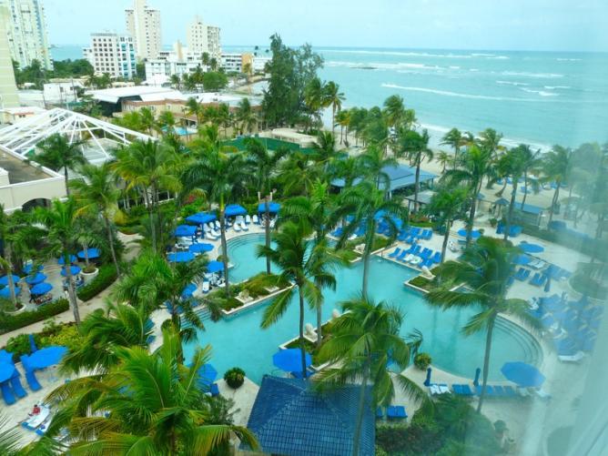 View of the pool at the Ritz Carlton San Juan Hotel