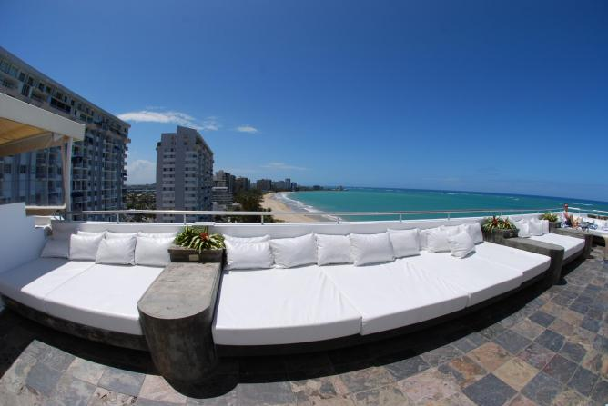 West side of the Rooftop Lounge @ the Beach and Water Club in Isla Verde, Puerto Rico