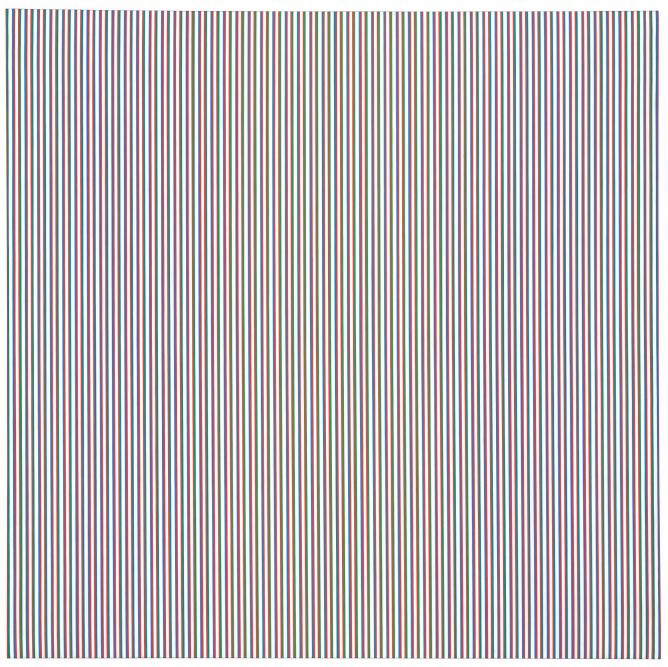 Bridget riley late morning i 1967 acrylic on linen 89 1 2 x 89 1 2