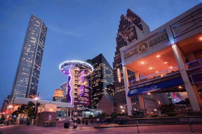 Bayou Place Houston Skyline Downtown HDR   © Katie Haugland/Flickr