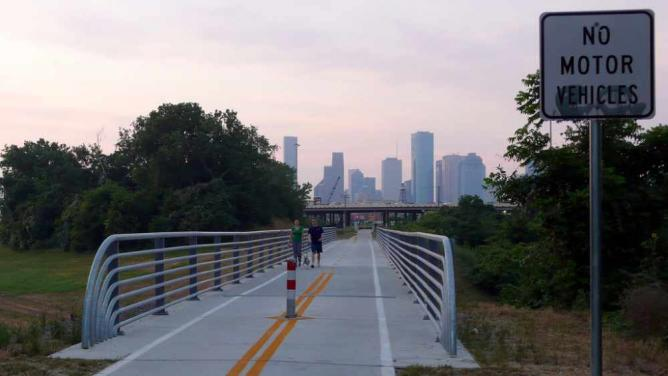 Houston at Dawn from The Heights Trail | © Matthew Rutledge/Flickr