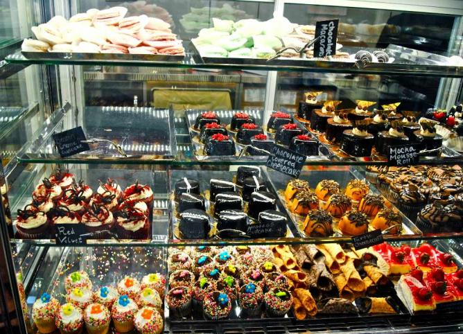 Selection of pastries at Modern Pastry   © Alyssa Erspamer