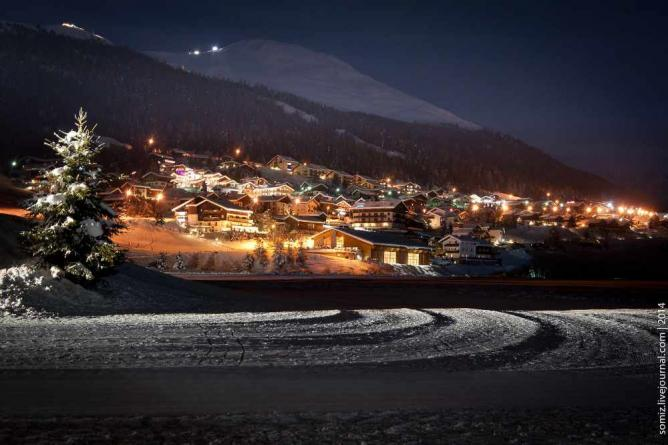 Livigno by night | © Evgeniy Isaev/Flickr