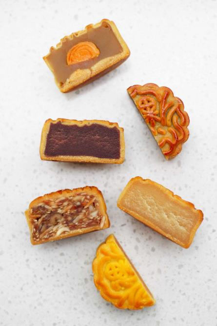 Various mooncakes | Courtesy of Nicky Barber (Lotuses & Lanehouses)