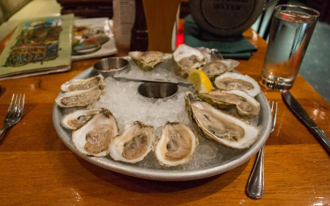 Oyster Platter at Clyde's of Gallery Place, DC