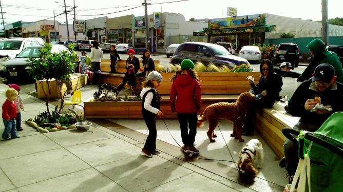 3876 Noriega Street Parklet I ©San Francisco Planning Department/Flickr