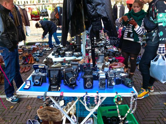 A stall at Waterlooplein