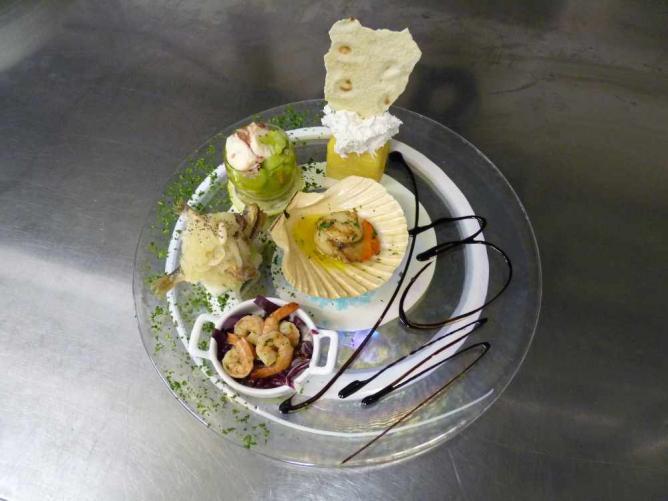 An antipasto at B Restaurant   © Courtesy of B Restaurant alla Vecchia Pescheria
