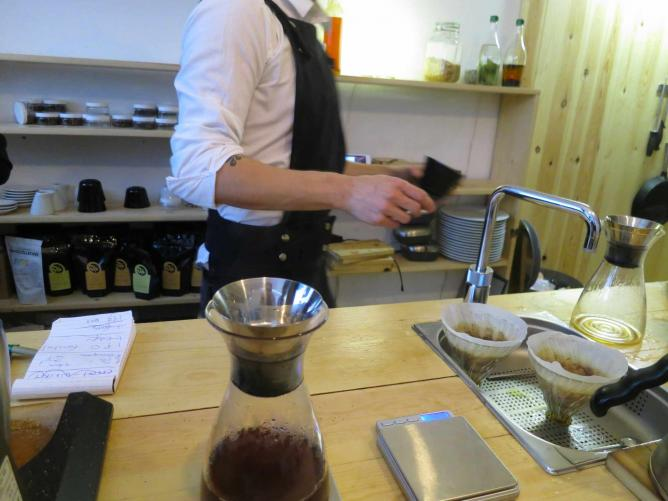 Brewing Coffee at Scandinavian Coffee