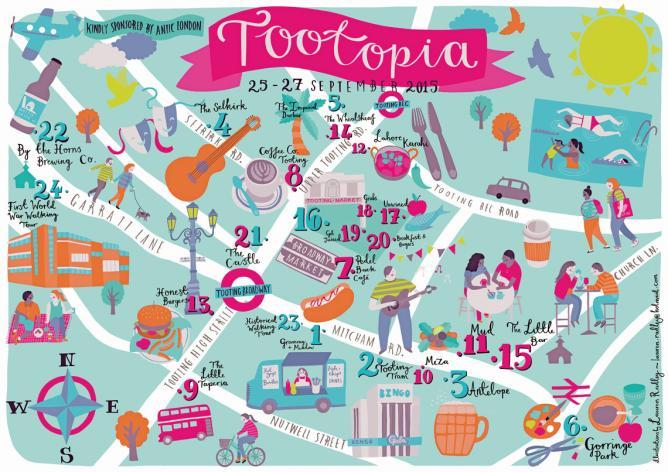 Tootopia 2015 Map | © Tootopia
