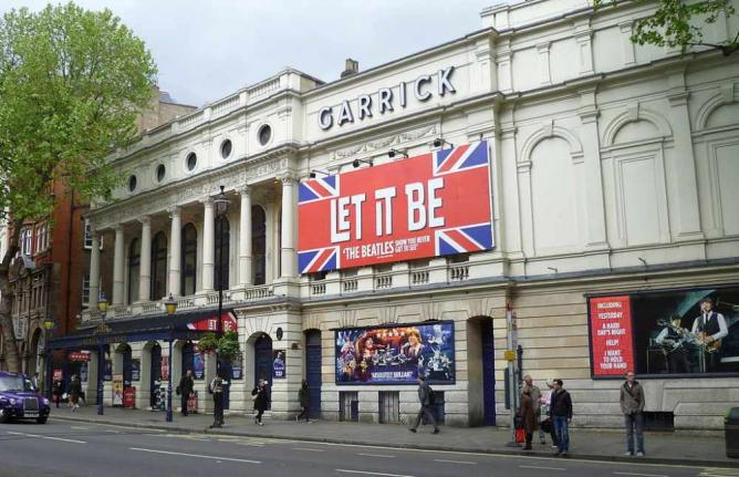 Let It Be at the Garrick Theatre   © Philafrenzy/WikiCommons